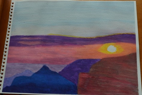 my painting of Grand Canyon Cape Royal sunset