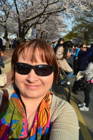 me at Yeouido Cherry Blossom Festival 2013