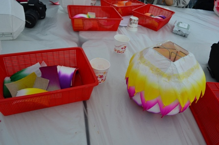 Lotus Lantern Festival lantern in progress