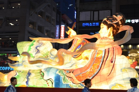 Lotus Lantern float
