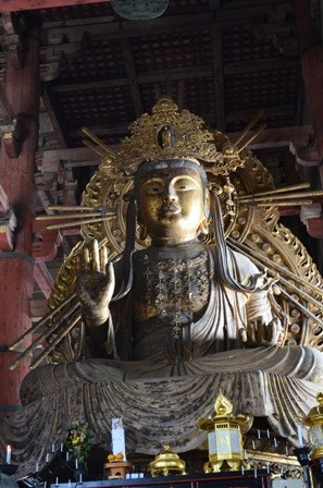 Great Buddha flanking statue, Todaiji Temple