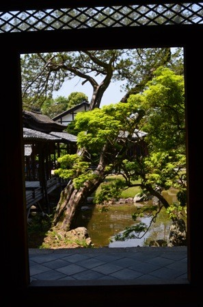 Kodaiji Temple garden window view