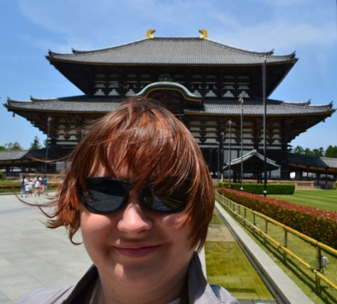 me in front of Todaiji Temple