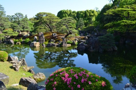 Nijo Castle beautiful garden view