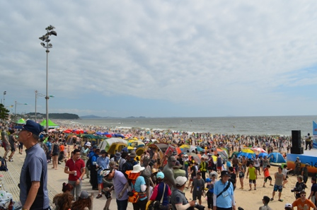Boryeong Mud Festival Dacheon Beach crowd