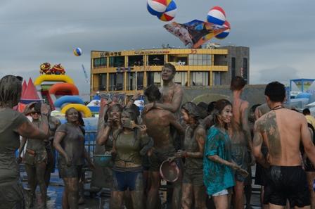 Boryeong Mud Festival muddy festival goers