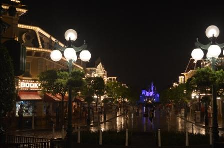 Hong Kong Disneyland Main Street and castle night view