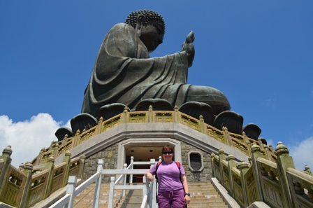 Hong Kong Lantau Big Buddha side view