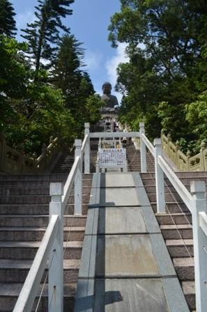 Hong Kong Lantau Big Buddha stairs