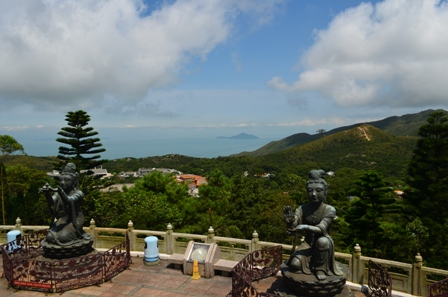 Hong Kong Lantau Big Buddha statue view