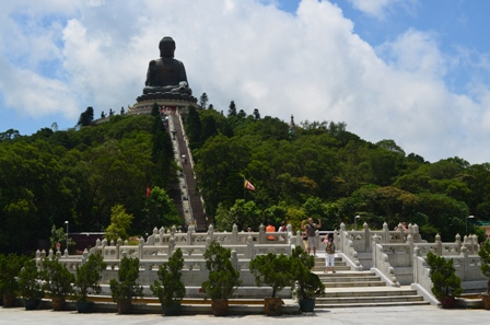 Hong Kong Lantau Big Buddha wide view