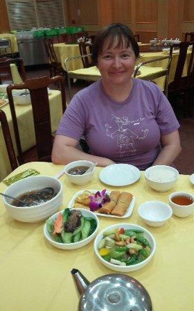 Hong Kong Lantau Island Po Lin Monastery lunch