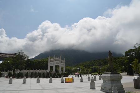 Hong Kong Lantau Po Lin Monastery plaza