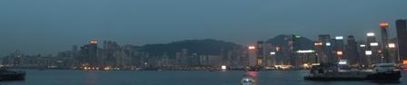 Hong Kong night island skyline