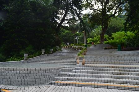 Hong Kong park stairs