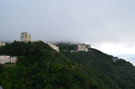 Hong Kong The Peak cloudy