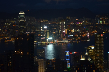 Hong Kong The Peak nighttime skyline