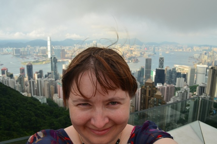 Hong Kong The Peak selfie day
