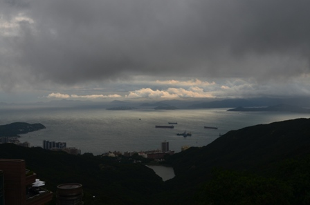 Hong Kong The Peak sunset view