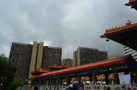 Hong Kong Won Tai temple city view