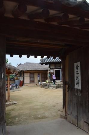 Andong Hahoe Maeul doorway view