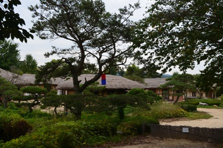Andong Hahoe Maeul thatched huts