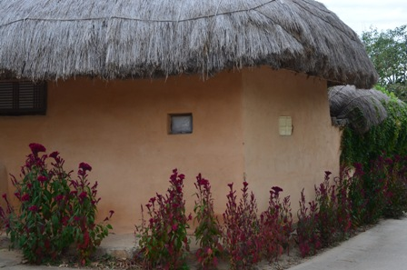 Andong Hahoe Maeul thatched roof  hut