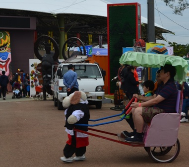 Andong Mask Festival robot  rickshaws