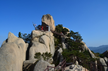 Seoraksan day 1 Ulsan Bawi view summit
