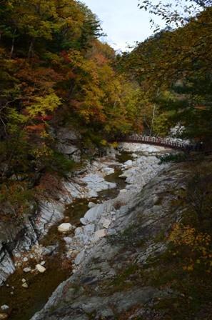 Sibiseonnyetang autumn river pathway