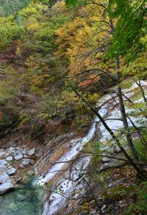 Sibiseonnyetang Eudam waterfall side view