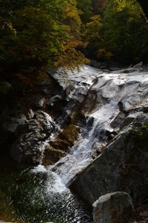 Sibiseonnyetang shaded waterfall