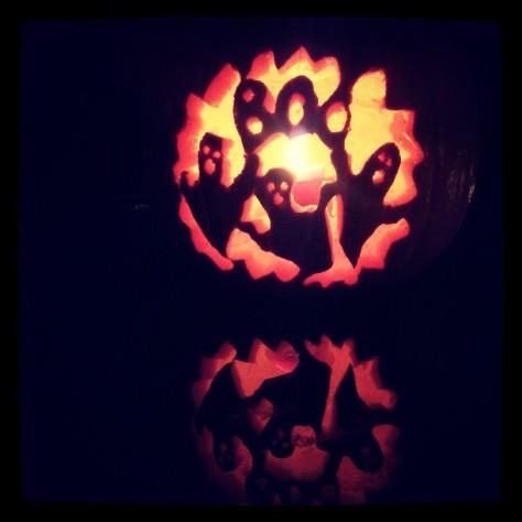Halloween Korea carved pumpkin