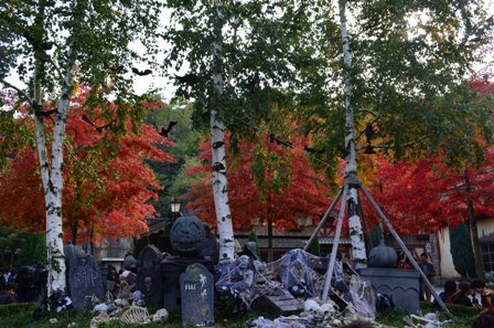 Halloween Korea Everland graveyard decorations