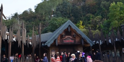 Halloween Korea Everland horror maze line