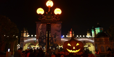Halloween Korea Everland night pumpkin display
