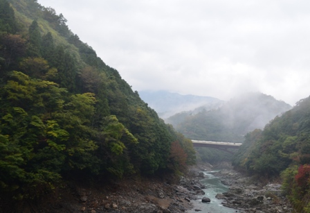 Kyoto Arashiyam valley river