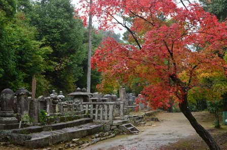 Kyoto Arashiyama Nishion Temple gravestones