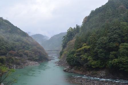 Kyoto Arashiyama river bridge