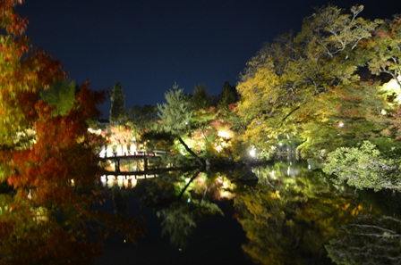 Kyoto Night Eikando Temple main lake