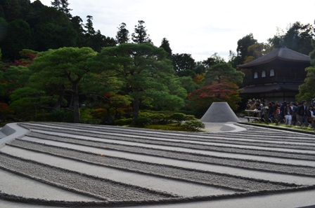 Kyoto Searching Ginkakuji Temple rock garden