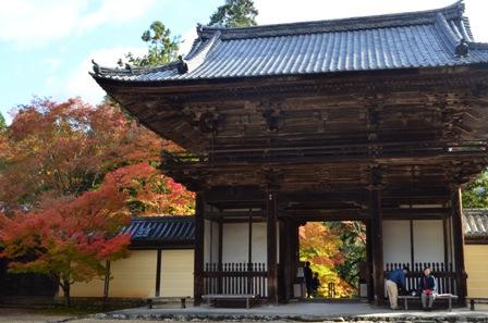 Kyoto Takao Temple entrance interior