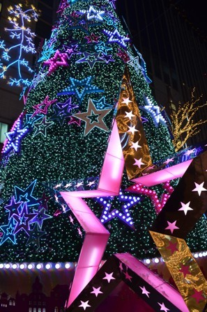 Holidays Seoul Christmas tree closeup