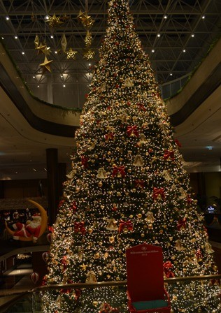 Holidays Seoul Hilton Hotel Christmas tree
