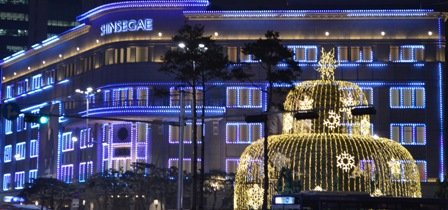 Holidays Seoul Shinsegae lights