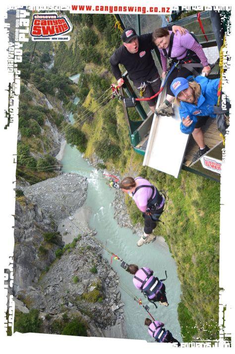 Shotover Canyon Swing multi shot