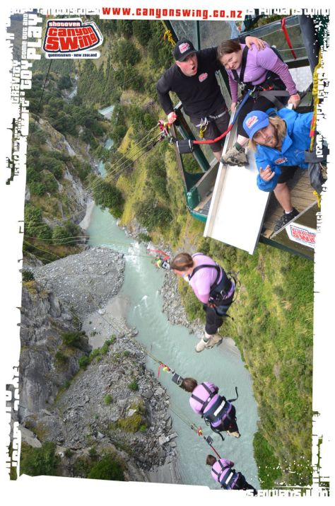 Shotover Canyon Swing multi shot
