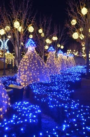 Everland Romantic Illumination blue hedges