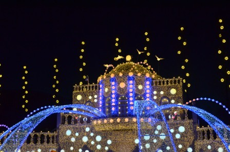 Everland Romantic Illumination castle close view