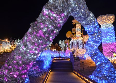 Everland Romantic Illumination colorful arch